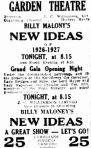 Billy Maloney's New Ideas [News 27 Nov 1926, 2]