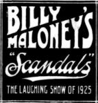 Billy Maloney's Scandals [RA 27 Dec 1924, 2]