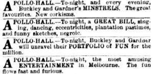 Buckley & Gardner's Mins [ARG 22 Oct 1881, 16]