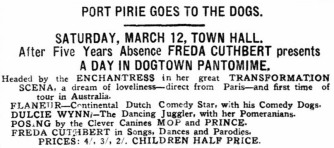 Day in Dogtown [Recorder PP 9 Mar 1927, 2]