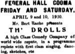 Drolls [MMCBA 2 Apr 1920, 3]
