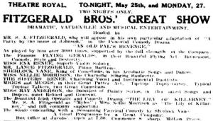 Fitzgerald's All Stars [CRE 25 May 1912, 12]