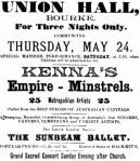 Kenna's Empire MInstrels [WHB 23 May 1900, 3]