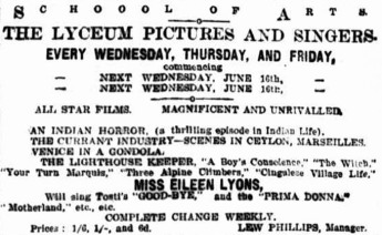 Lyceum Pictures [NM 12 June 1909, 1]