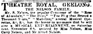 Nelson Family [GAI 6 Nov 1852, 2]
