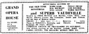 Old Time Minstrels 1929 [