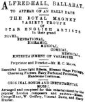 Royal Magnet Variety Co ad [AUSN 27 July 1871, 4]