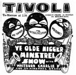 Ye Olde Nigger MInstrels [STS 31 Jan 1926, 27]