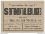 Sentimental Blokes, 1919 poster [AWM]