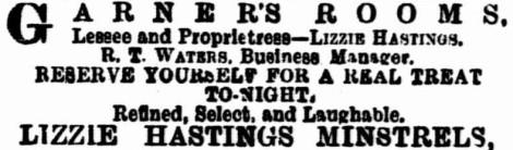 lizzie-hastings-minstrels-ad-exta-15-nov-1890-1